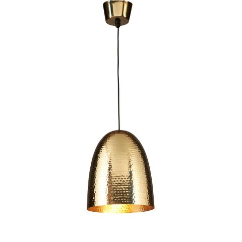 Dolce Beaten Brass Hanging Lamp