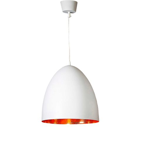 Egg Ceiling Pendant White and Copper