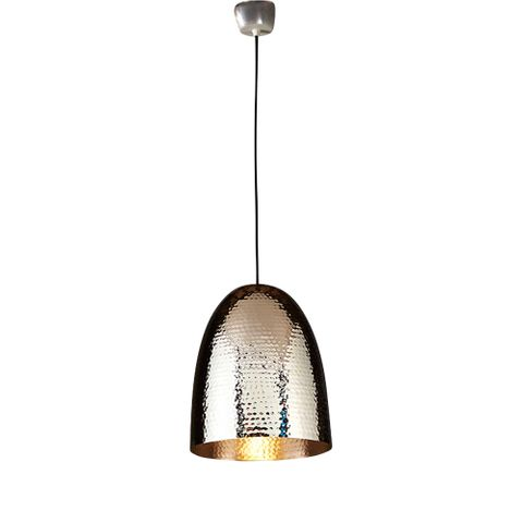 Dolce Beaten Silver Hanging Lamp
