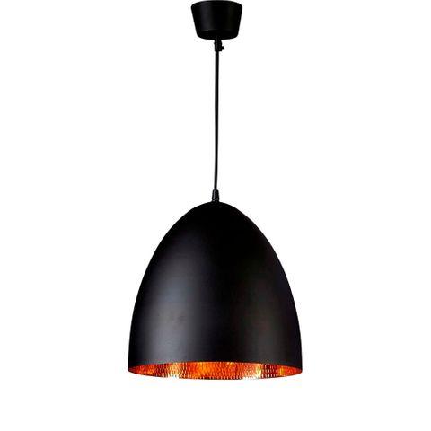 Egg Ceiling Lamp Black Copper