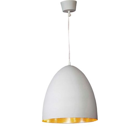 Egg Ceiling Lamp White Silver