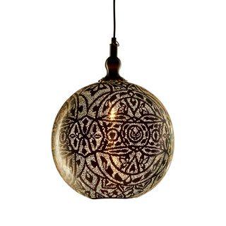 Moroccan Ball Ceiling Pendant Medium Silver