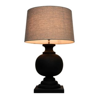 Coach Base Only - Black - Turned Wood Ball Balustrade Table Lamp Base Only