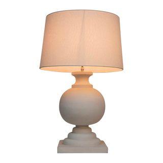Coach Table Lamp Base White