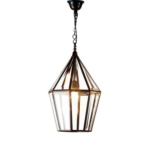 Belmont Glass Ceiling Pendant Black