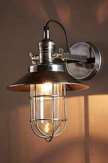 Maine Wall Light Antique Silver