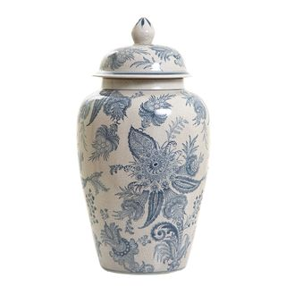 Imperial Ginger Jar W/Lid 43cm Blue/Whit