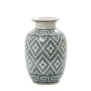 Maze Vase Blue and White