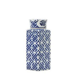 Moroccan Ginger Jar Large Blue