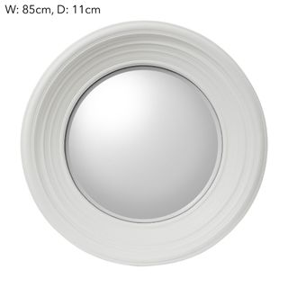 London White Convex Mirror Large