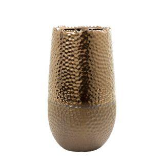 Dimpled Vase Ceramic Small Bronze