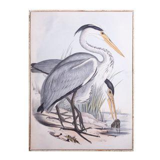 Framed Crane Print 113x83x3