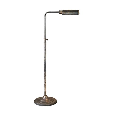 Brooklyn Floor Lamp Antique Silver