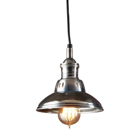 Metro Overhead Lamp Antique Silver