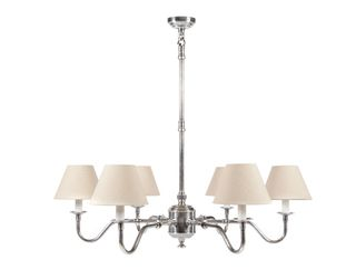 Prescot 6 Arm Chandelier Base Ant.Sil