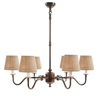 Prescot 6 Arm Chandelier Base Bronze
