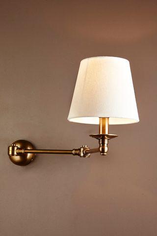 Portland Swing Arm Sconce Base Brass