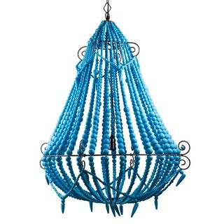 Beaded Chandelier Large Turquoise