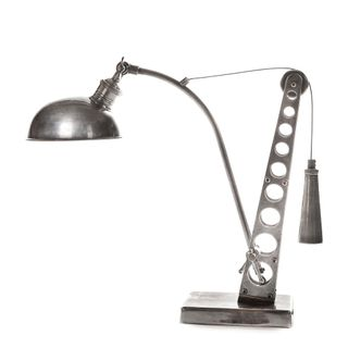 Bolton Desk Lamp Antique Silver