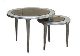 Round Tables W/Mirror Set/2