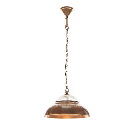 Atrium Hanging Lamp Antique Brass