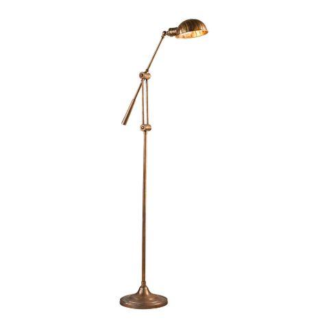 Calais Floor Lamp Antique Brass