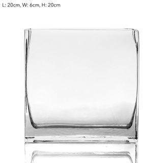 Rectangle Vase 20x6x20cm