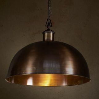 Essen Medium - bronze - Domed Solid bronze Pendant Light