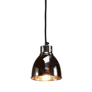 Muri - Nickel - Small Tall Contemporary Dome Pendant Light