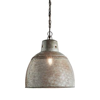 Riva Small - Zinc - Perforated Iron Dome Pendant Light