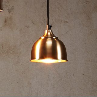 Kaya - Antique Brass - Small Contemporary Dome Pendant Light