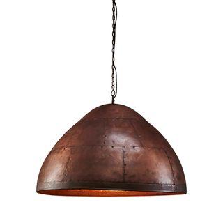 P51 Medium - Antique Copper - Iron Riveted Dome Pendant Light