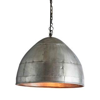 P51 Medium - Zinc - Iron Riveted Dome Pendant Light
