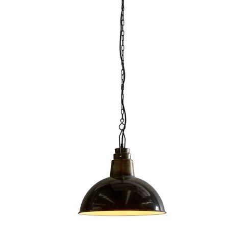 Napier - Old Black - Iron Dome Pendant Light