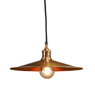 Forbes Large - Antique Copper - Dish Pendant Light