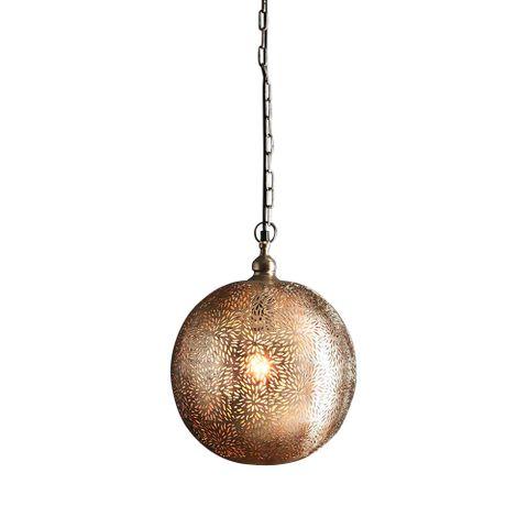 Taurus - Nickel - Perforated Round Ball Pendant Light