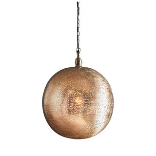 Orion - Nickel - Large Perforated Ball Pendant Light