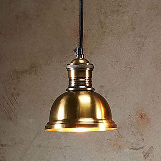 Bourke Medium - Antique Brass - Stepped Dome Pendant Light