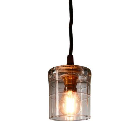 Scotch Square - Clear - Hand Cut Scotch Glass Pendant Light
