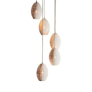 Constellation - White - Perforated Pendant Light Cluster