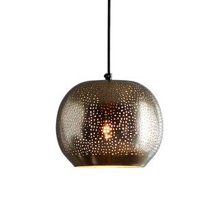Mercury - Nickel - Perforated Ball Pendant Light