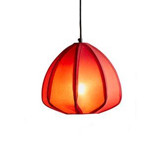 Urchin - Deep Red - Cotton Lantern Pendant Light