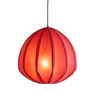 Urchin Large - Deep Red - Cotton Lantern Pendant Light
