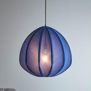 Urchin Large - Blue - Cotton Lantern Pendant Light