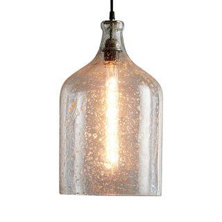 Lustre Flagon - Clear - Stone Effect Glass Bell Pendant Light
