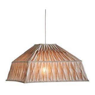 Dutchess - Natural - Pleated Square Linen Pendant Light