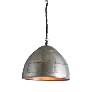 P51 Small - Zinc - Iron Riveted Dome Pendant Light