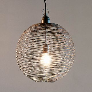 Celestial Small - Zinc - Wire Weave Ball Pendant Light