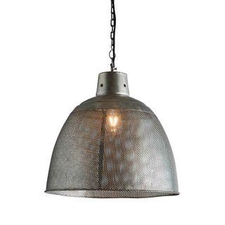Riva Medium - Zinc - Perforated Iron Dome Pendant Light