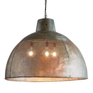 Riva Extra Large - Zinc - Perforated Iron Dome Pendant Light